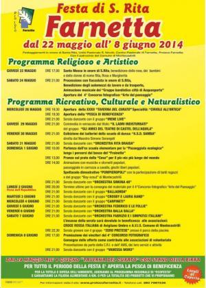 Festa di Santa Rita - Farnetta - 2014 - Programma